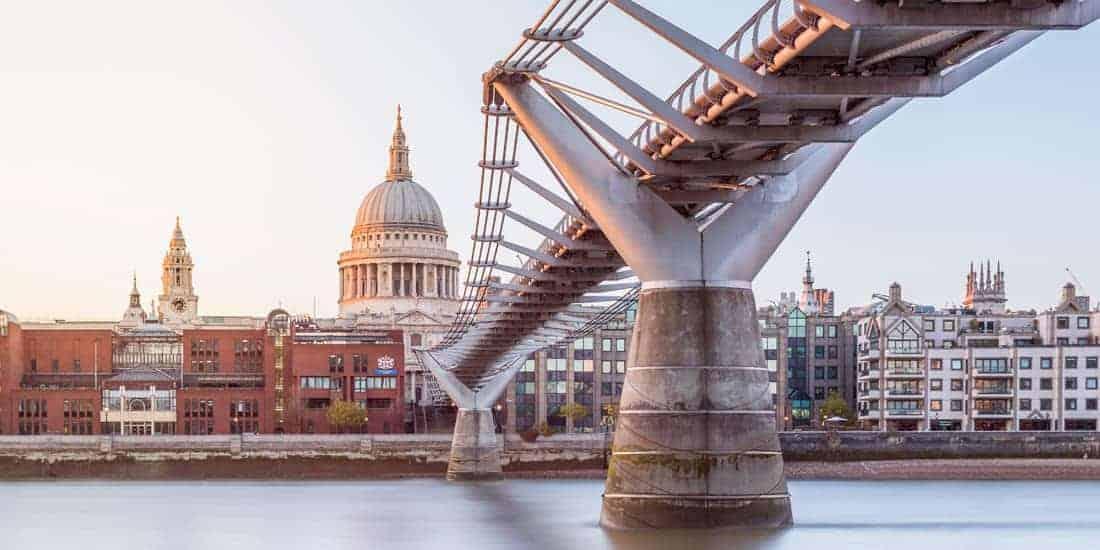 Harry Potter in London   Millennium Bridge