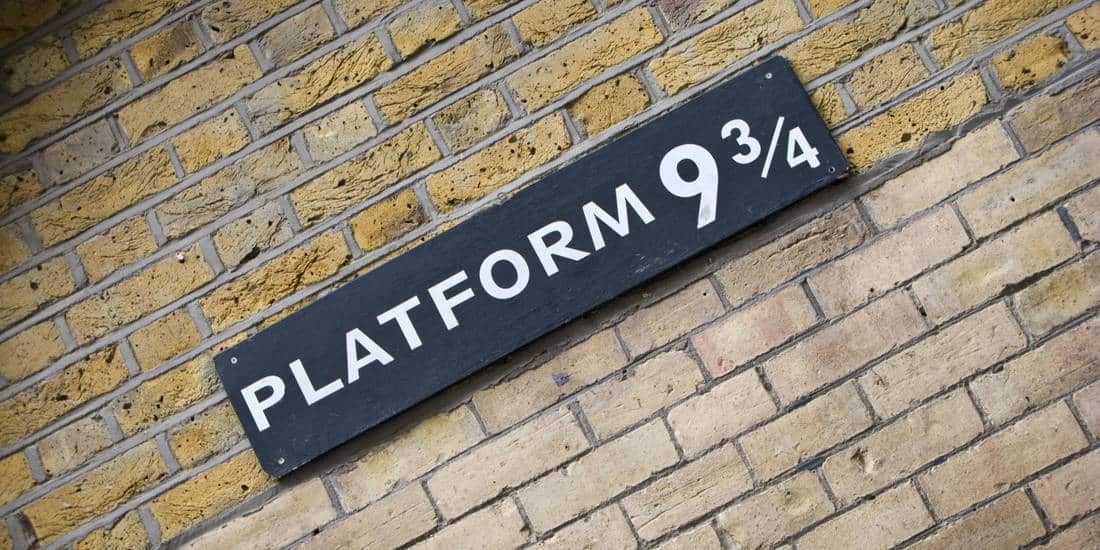 Harry Potter in London   Platform 9 3/4