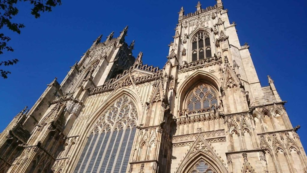york minster outside front view