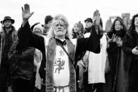 druids gathering at stonehenge