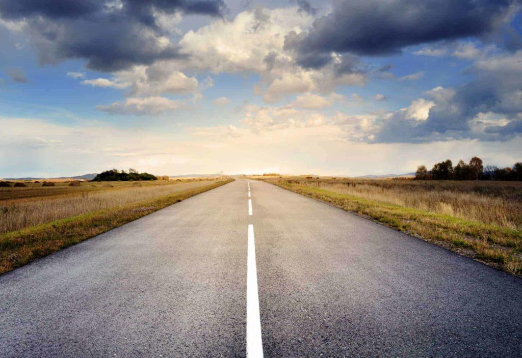 road asphalt sky