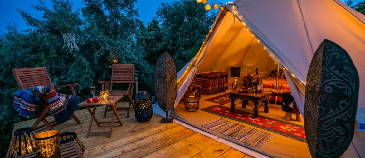 best glamping spots in in the uk