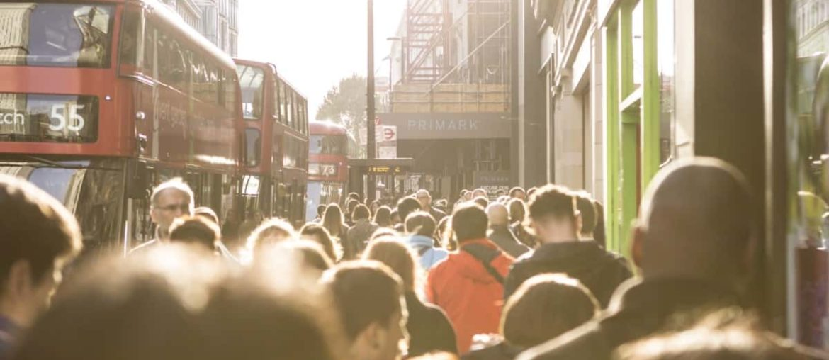 busy street in central london