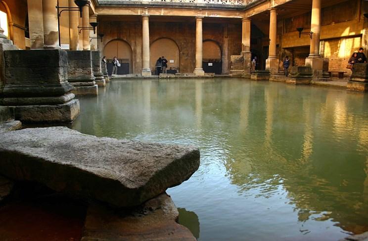 the main pool at the roman baths